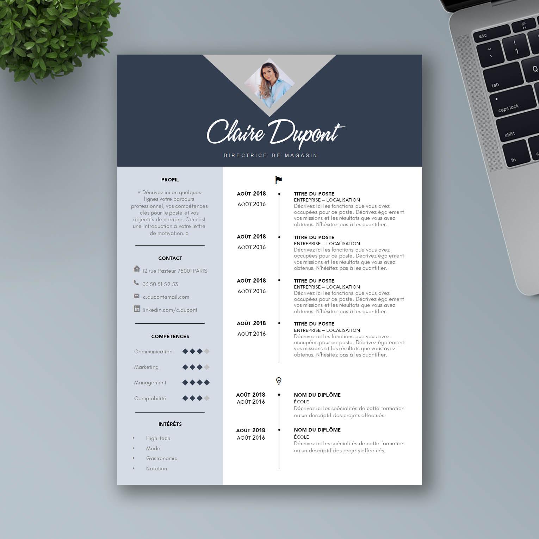 Modèle CV Design Prêt à Imprimer - Mon Beau CV