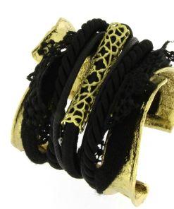 bracciale bronzo cordoni black 01