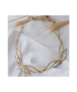 collana bronzo e cristalli swarovski iridescenti 02