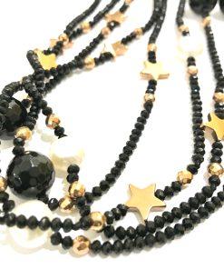 collana pietre nera stelle perle bianche 02