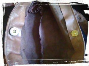 Detail fermeture aimantée du sac en cuir de style Gérard darel tuto home made monblabladefille.com