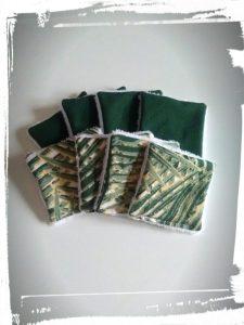 Photo tuto cotons démaquillants réutilisables monblabladefille.com epingles diy couture résultat vert