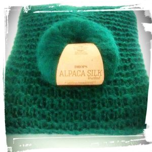 Pull doudou fait main hand made vert drops alpaca monblabladefille.com