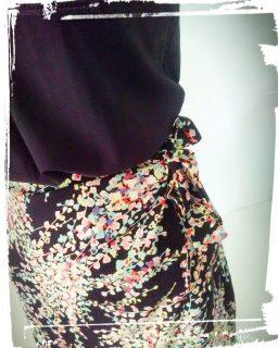 Test patron jupe portefeuille charlotte Auzou handmade fait main couture cousette monblabladefille.com