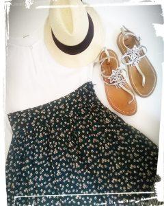 Comment faire une jupe de style bohème tuto et patron gratuit hand made diy couture monblabladefille.com