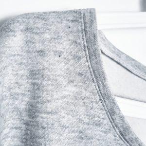 Réalisation sweat loose en jersey Gilou patron et notice de montage couture monblabladefille.com