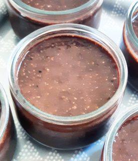 Recette crème dessert chocolat banane coco graine de chia vegan facile monblabladefille.com
