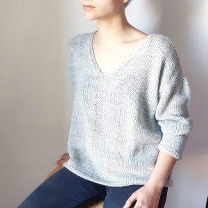 Photo pull Maxou laine karisma drops tuto tricot fiche technique patron mespatronsdefille monblabladefille.com