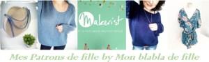Collection bandeau boutique Makerist mes Patrons de fille by Mon blabla de fille