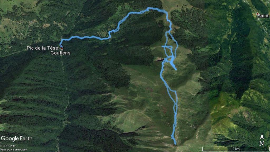 Google Earth - pic de la Tèse