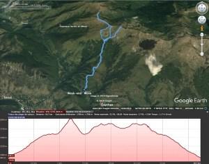 Trace gpx sur Google Earth autour de la jasse de l'Estagnolette