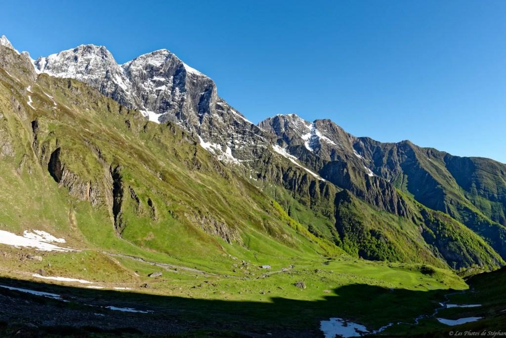 Mont Valier et cabane d'Aula