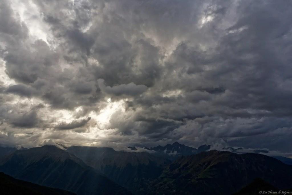 Mont Valier sous les nuages