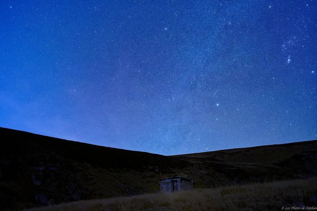 Voie Lactée sur la cabane de Bèze