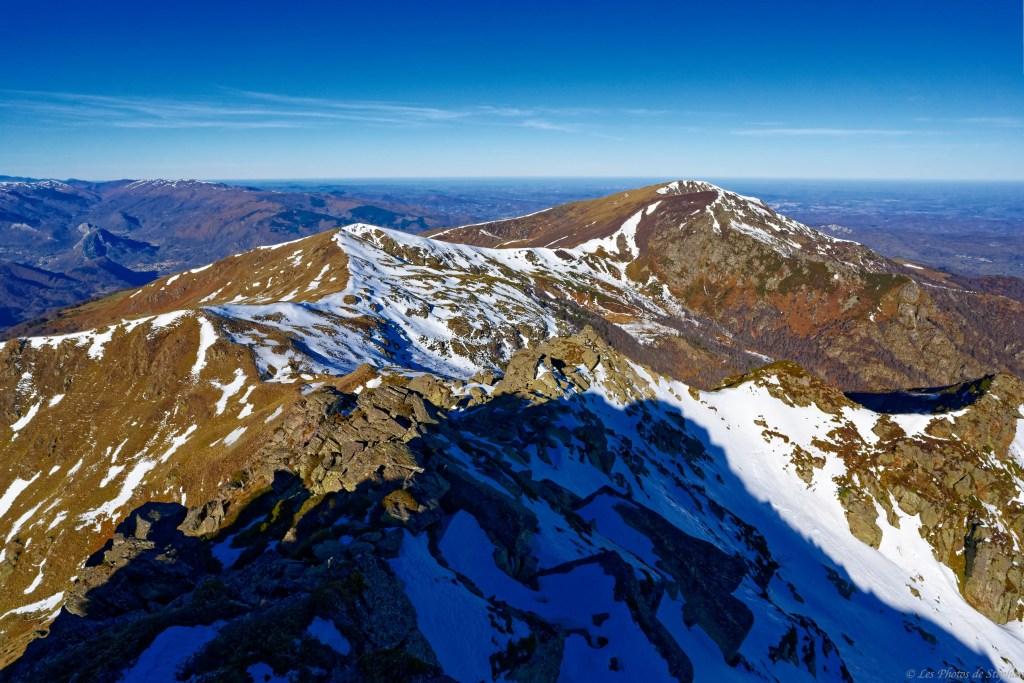 Le Mont Fourcat et le pic de l'Estagnole depuis le pic du Han