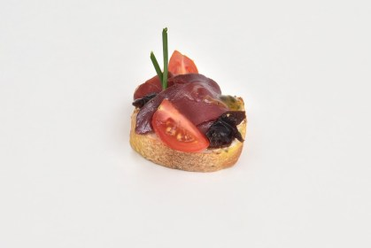 Tartine magret de canard fruit de la passion