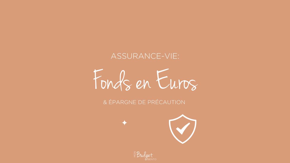 BLOG MON BUDGET BENTO fonds euro épargne