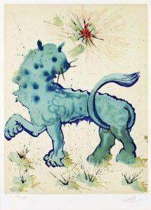 Salvador Dali ; ses peintures des signes du zodiaque : Cœur du Zodiaque, il exprime la joie de vivre, l'ambition, l'orgueil et l'élévation.(…) force maîtrisée et disponible (…) (cœur, yeux)