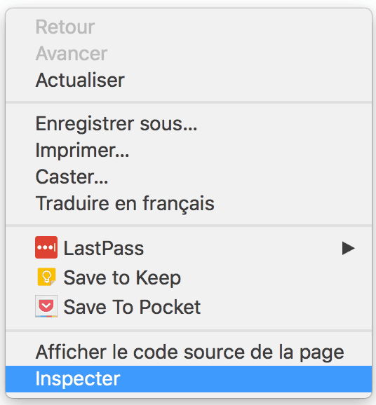 web scraping - inspecter le code