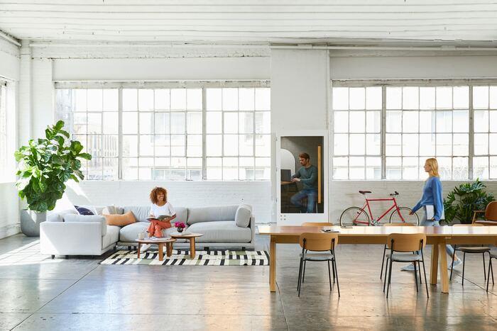 salon avec un canape d angle