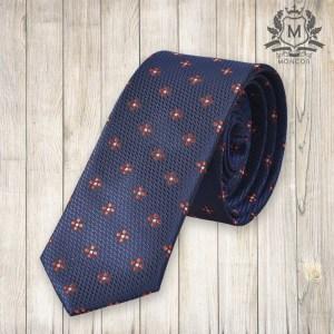 Falcon's tengerészkék, virágmintás nyakkendő