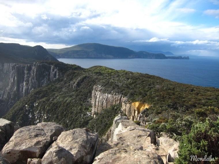 Randonnée sur le sentier du Cap Pillar en Tasmanie