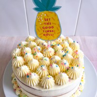 Maple Funfetti Cake