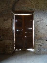 Inside the mausoleum at Uzgen