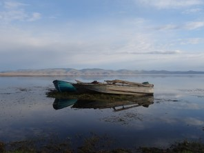 Rowboats on Song-Kul. This may be the best photograph I've taken in my life.