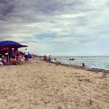 On the beach inTamchy