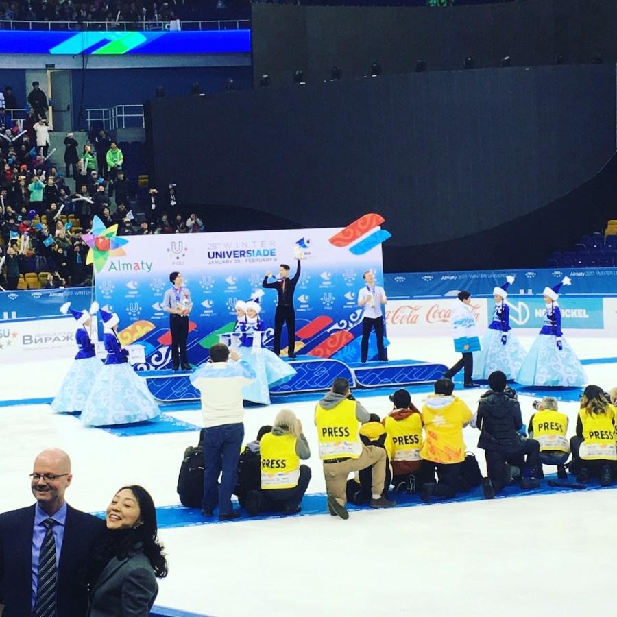 Denis Ten Universiade Podium