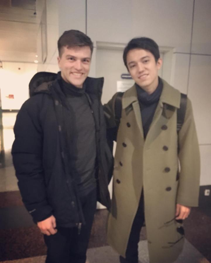 Meeting Dimash Kudaibergen at Astana International Airport