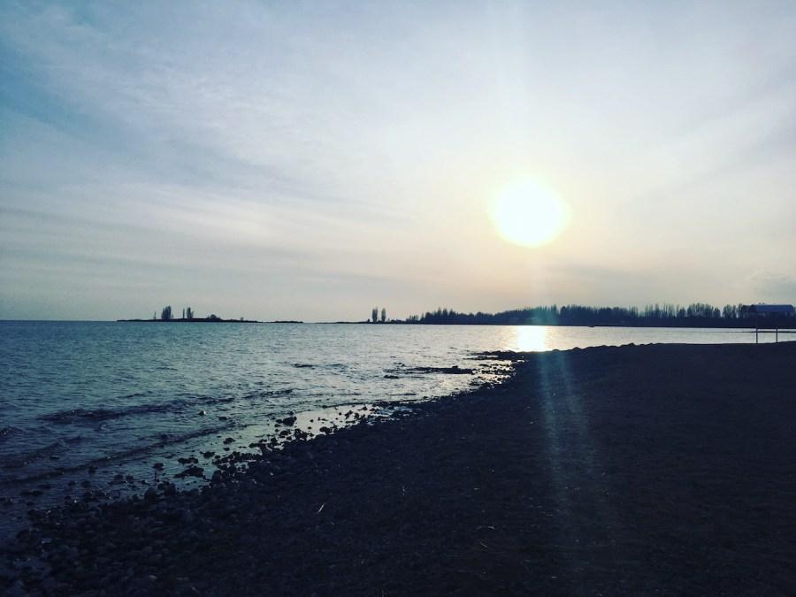 Winter on an Issyk Kul Beach