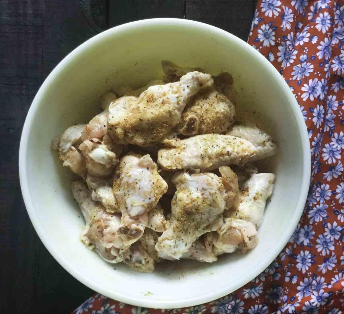 chicken wing prep