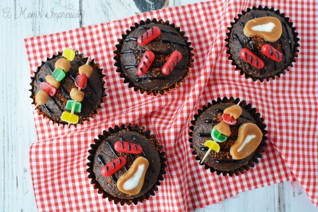 BBQ Grill Cupcakes