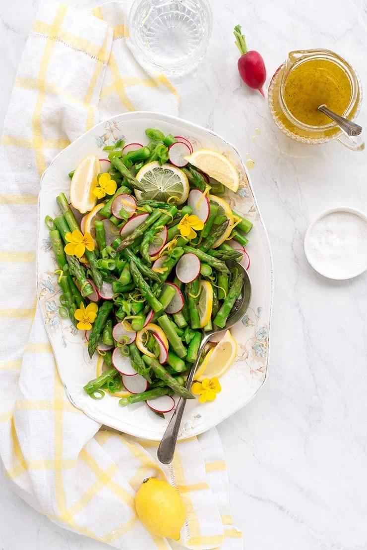 Asparagus Salad with Lemon Vinaigrette