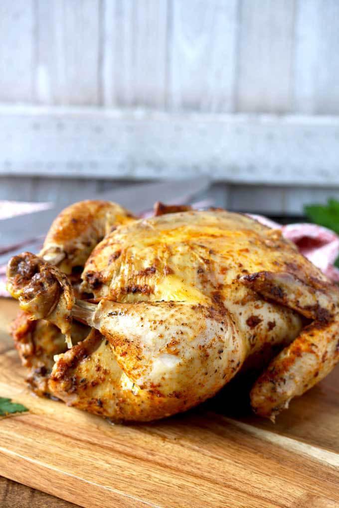 Pressure Cooker Whole chicken Rotisserie Style (Instant Pot)