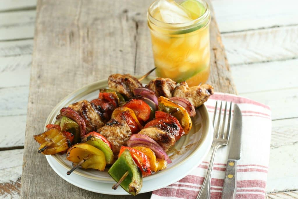 sweet maple barbecue chicken kebabs