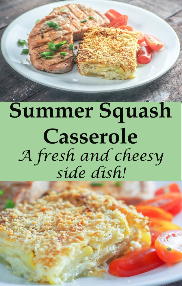 A summer fresh side dish that is a savory treat filled with cheesy goodness! An amazing side dish for any occasion! Great for a potluck, holiday party, or a compliment to a main dish dinner! #sidedish #summersquash #potluck #veggie