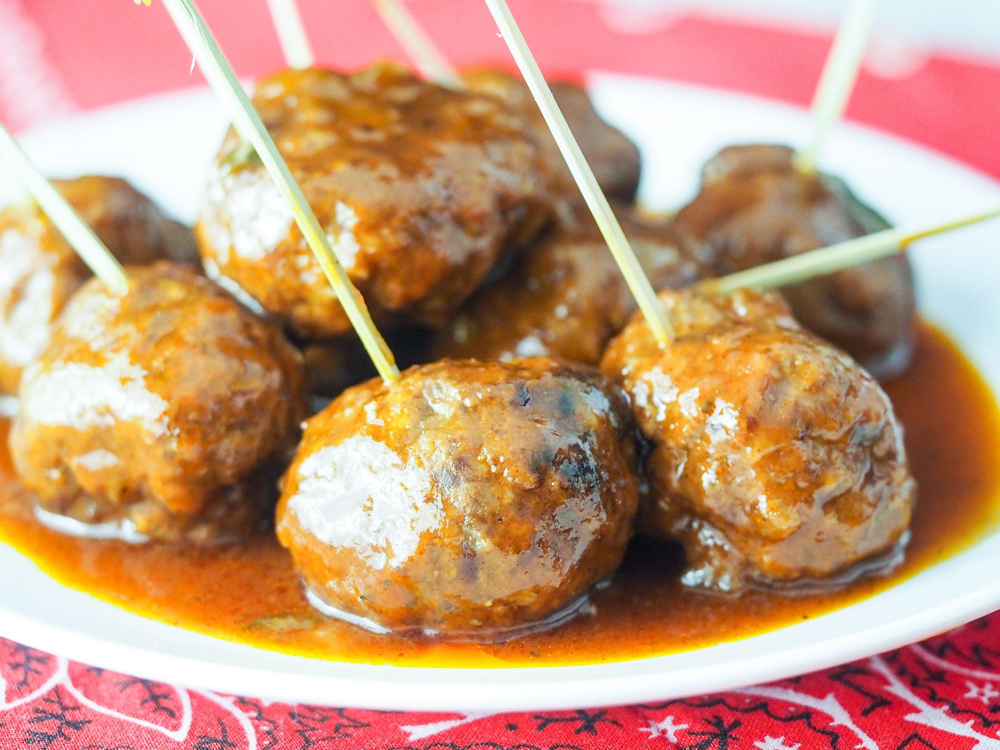 Sweet Heat Instant Pot BBQ Meatballs
