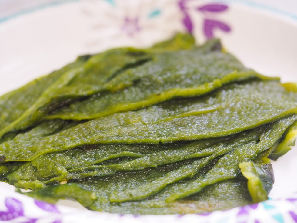sliced roasted poblano peppers