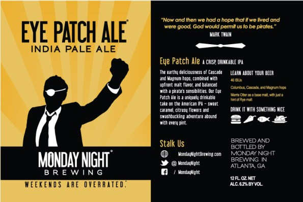 Eye Patch Ale Label