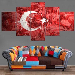 Décoration Murale Drapeau Tunisie