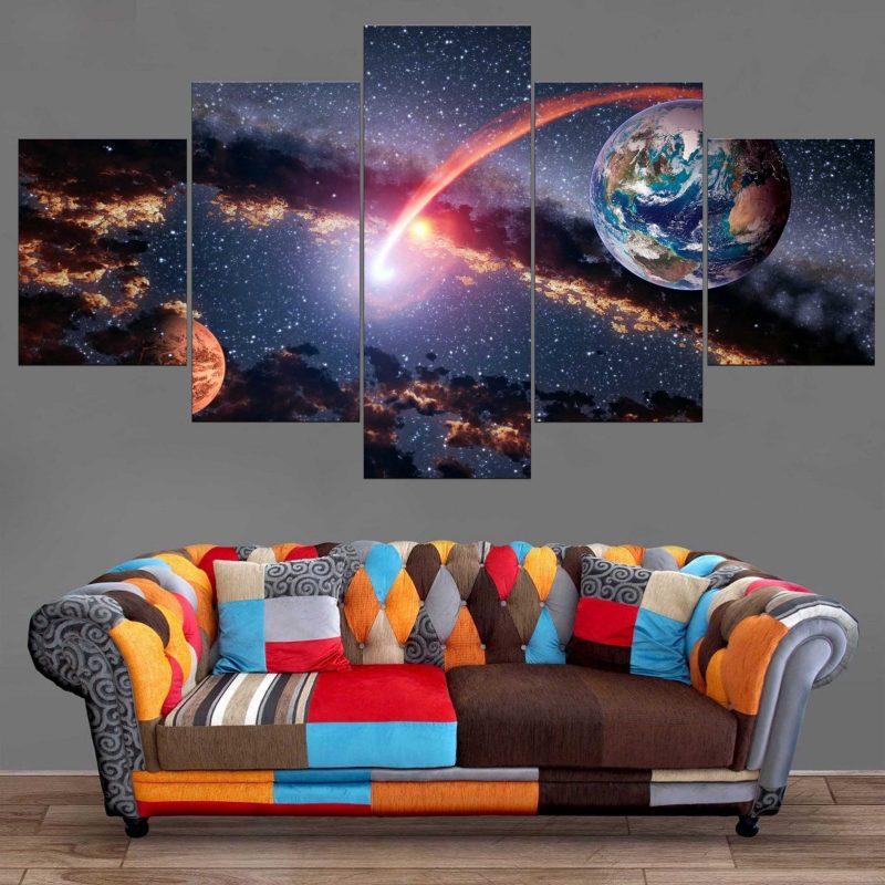 Décoration Murale Planète Terre & Mars