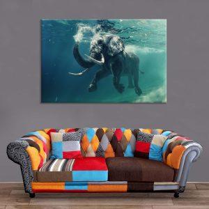 Décoration Murale Baignade Elephant