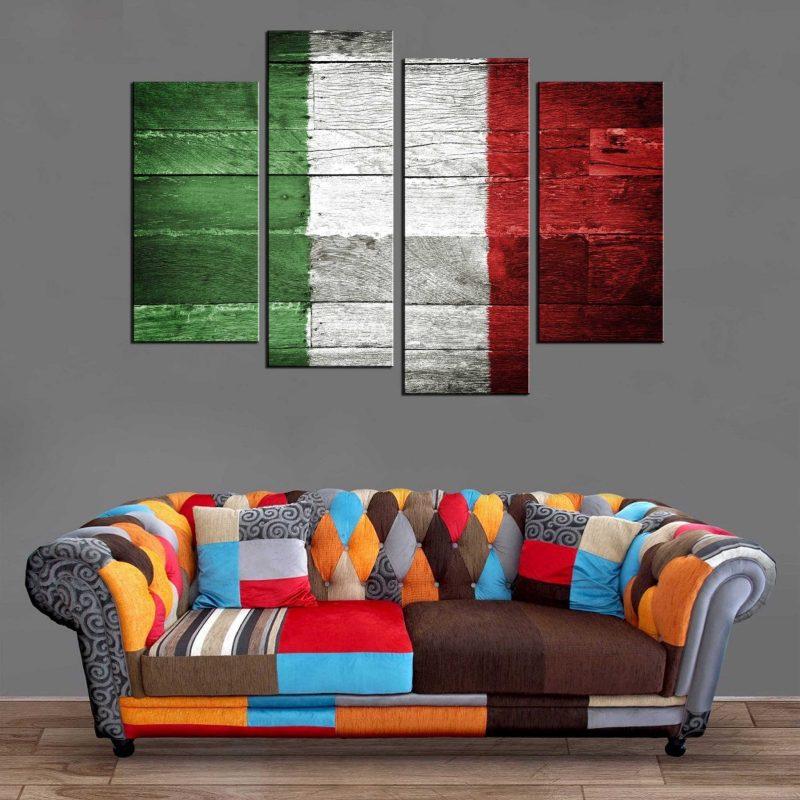 Décoration Murale Drapeau Italie