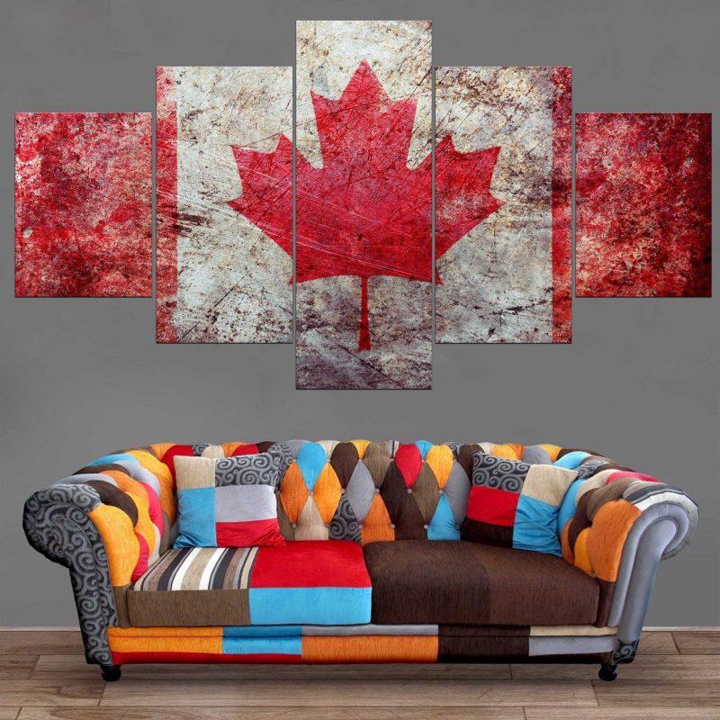 Décoration Murale Drapeau Canada
