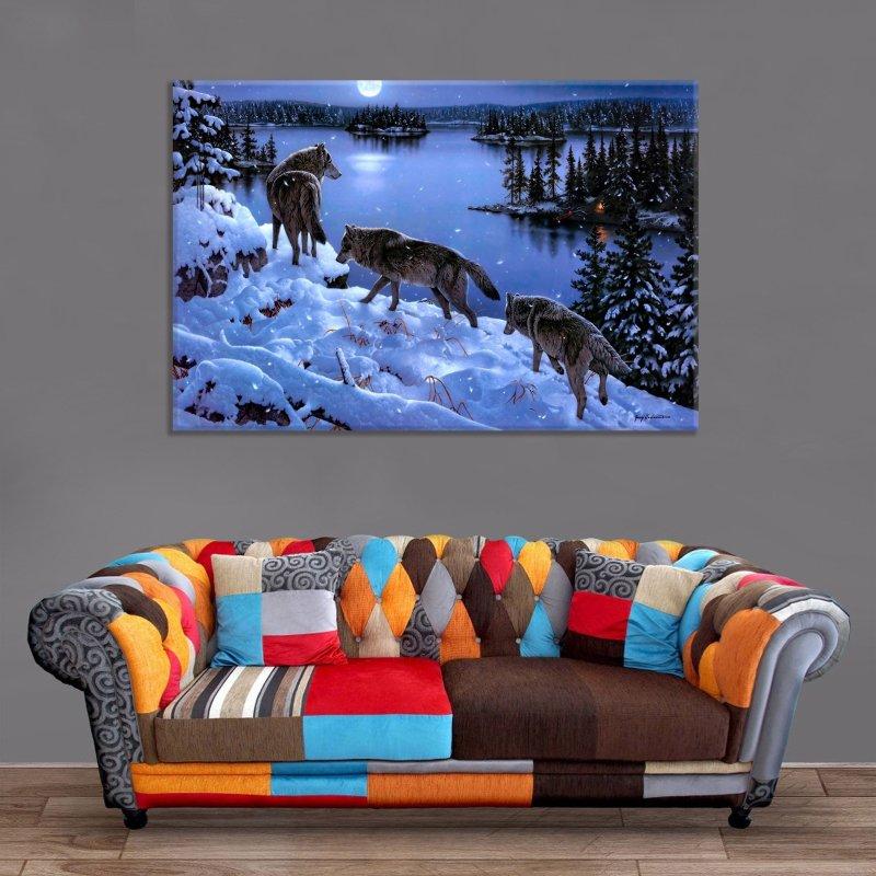 Décoration Murale Meute de Loups