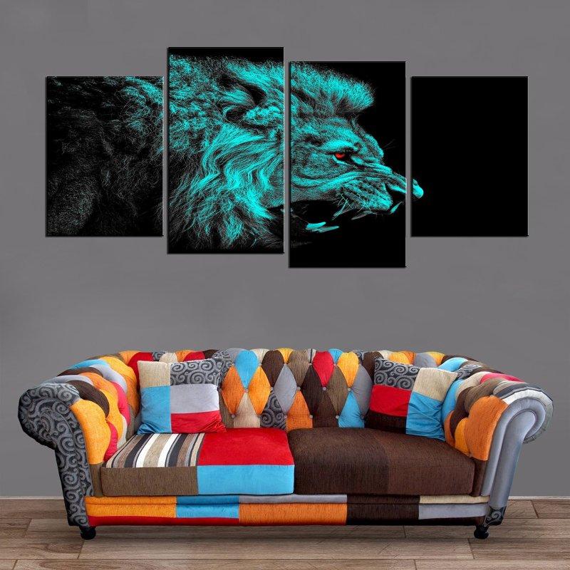 Décoration Murale Lion Sauvage