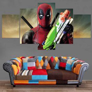Décoration Murale Deadpool Pistolet à eau